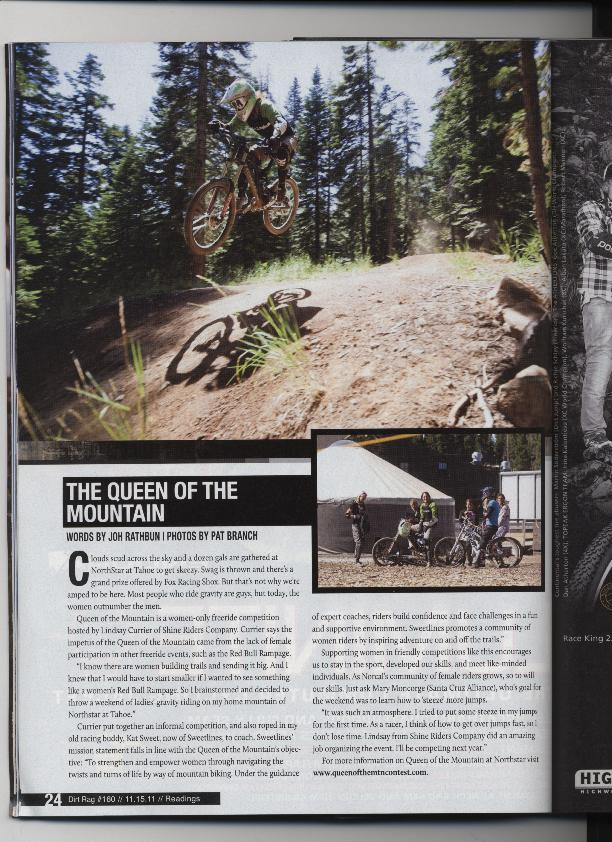 Dirt Rag Magazine, Queen of the MTN, #160, Nov 2011