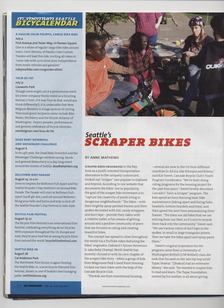 Momentum Magazine, Scraper Bikes, #46 July/Aug 2010