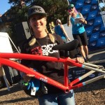 Lauren won the Diamondback Assault frame!! (pic by Meg Valliant)