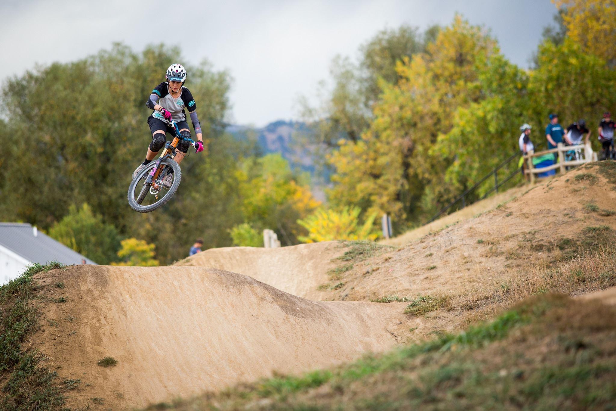 Kat Sweet Jumping at Valmont Bike Park